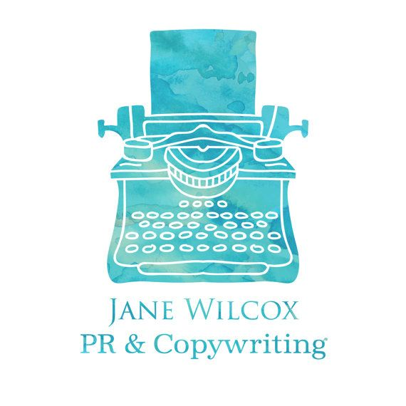 Amber Phillips Design - OOAK premade typewriter logo. Customised and exclusive to your business. Includes main logo, icon and black & white versions