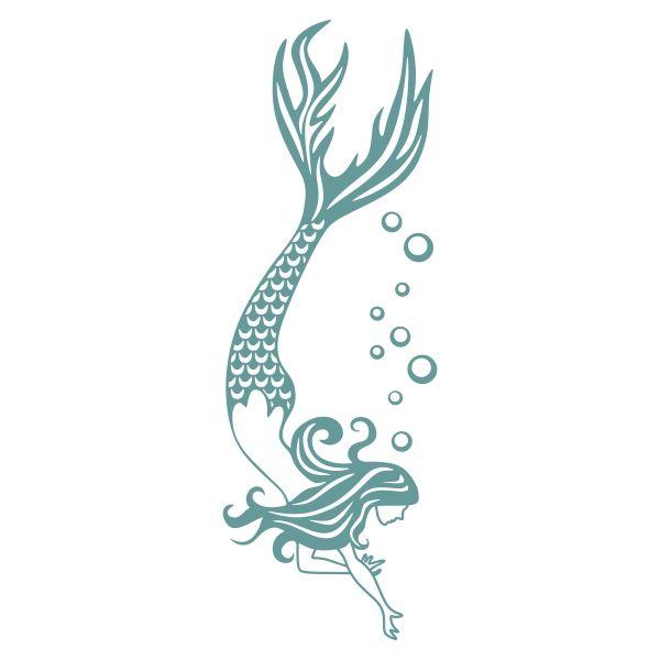 Download Mermaid Bubbles Cuttable Design | Mermaid svg, Mermaid ...