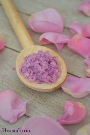 Recette sel de bain douceur de rose - Sel de bain maison - recette diy, home-made, slow - Comment faire son propre sel de bain ?