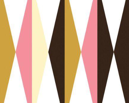 Behang met grafische patronen van KEK Amsterdam No guts, no great graphics