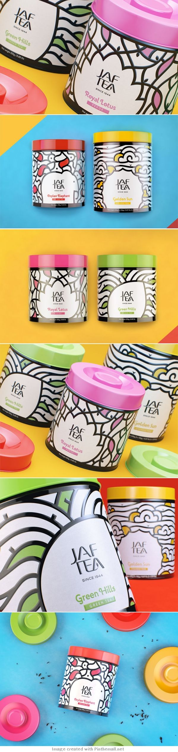by the Russian designer, Katerina Teterkina for JAF tea, a company with 70 years of experience