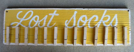 LOST SOCKS.......Vintage Style Laundry Room Sign by GeorgiasSigns, $20.00