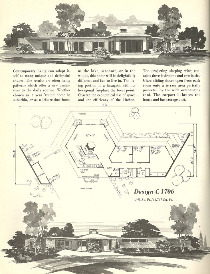 House plans 1960s homes vintage house plans for 1960s home floor plans