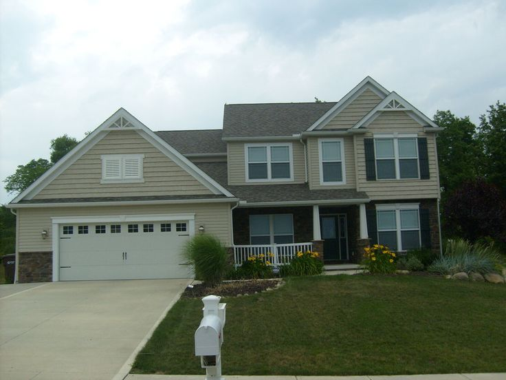 Best Homes With Tan Siding And Green Trim Tan Vinyl Siding 400 x 300