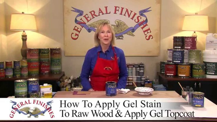 How To Apply General Finishes Java Gel Stain and Gel Topcoat to Raw Wood