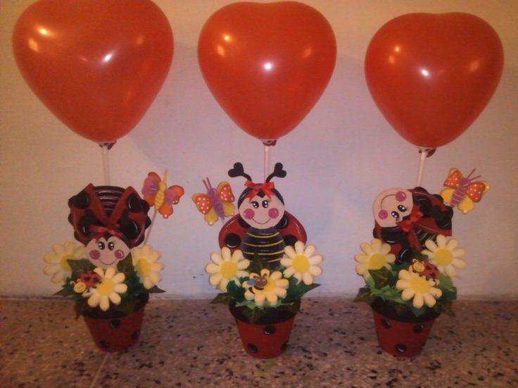 17 mejores ideas sobre Centros De Mesa Para Fiesta De Mariquita en ...