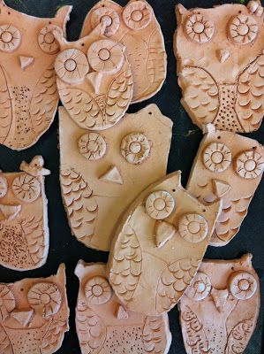 Art Room with a View: Clay Owls...in process EASY
