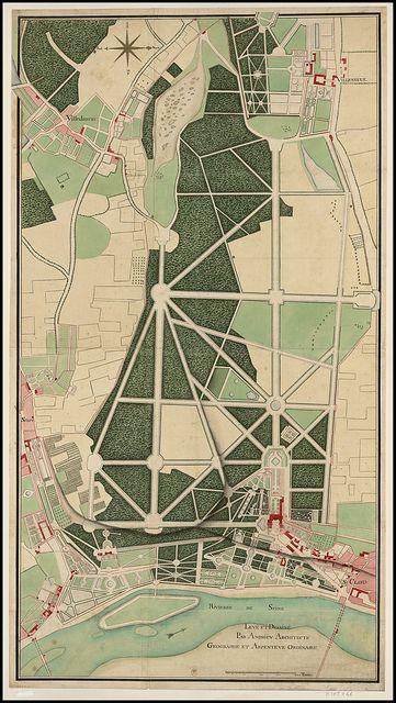 Plan général du château et parc de Saint-Clou --- Levé et dessiné par Andrieu architecte géographe et arpenteur ordinaire, 1720 by peacay, via Flickr