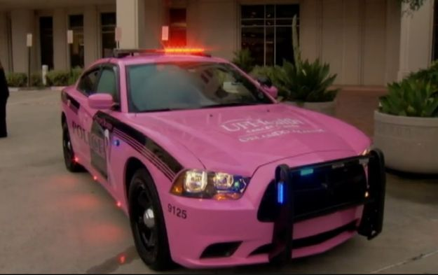 The Orlando Police Department presented Long with a pink patrol car to honor her fight with cancer and in support of Breast Cancer Awareness Month on Oct. 1. | Police Officer Battling Breast Cancer For The Second Time Is Honored With A Pink Patrol Car