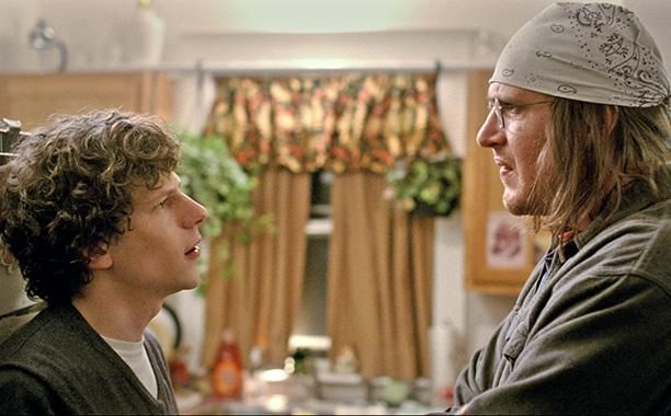 Jesse Eisenberg as David Lipsky and Jason Segel as David Foster Wallace - 'The End of the Tour'