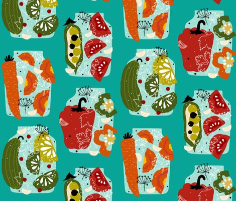pickles fabric by oleynikka on Spoonflower - custom fabric