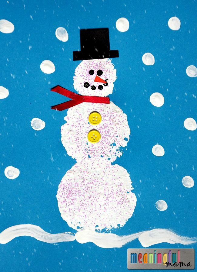 winter crafts ideas sponge stamped snowman craft it is home and crafts 3237