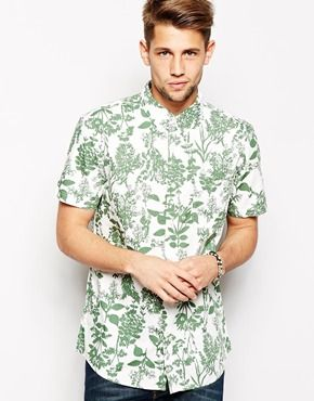 Jack Wills Burnaby Shirt with Botanical Print