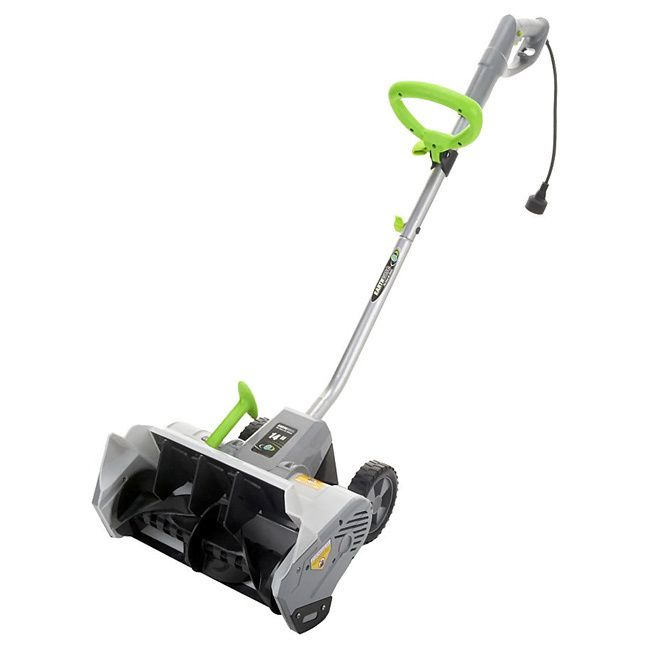 Refurbished Earthwise 12 AMP Electric Snow Thrower Power Shovel with Wheels (Grey)