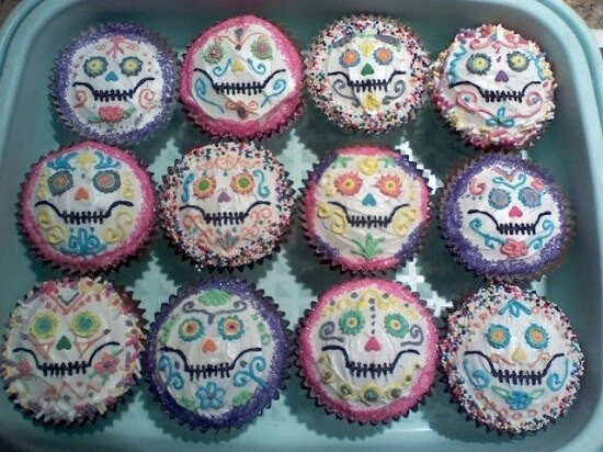 Sugar Skull Cupcakes Sugar Skulls Amp Day Of The Dead