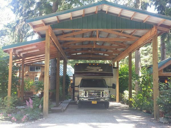 Best 25 rv shelter ideas on pinterest porch shelter for Rv port designs
