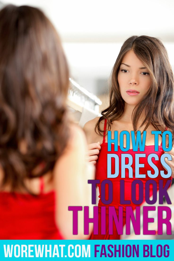 How to dress to look thinner... #Fashion #Clothing ...