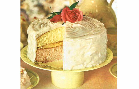 Vintage 1950s Beautiful 'Rose' Cake and 5 FREE Tasty Cake Recipes PDF