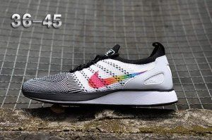 a70d2b774ad38 Mens Womens Nike Air Zoom Mariah Flyknit Racer Running Shoes Black White  Multi-Color