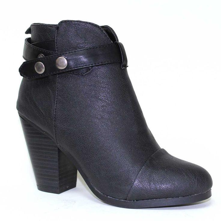 Gail-22 Black Ankle Booties