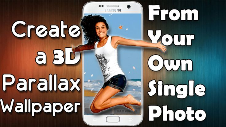 Create a 3D parallax wallpaper from your own photo #smartphone #wallpaper