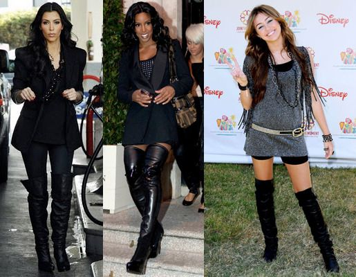 Outfits To Wear With Thigh High Boots - Cr Boot