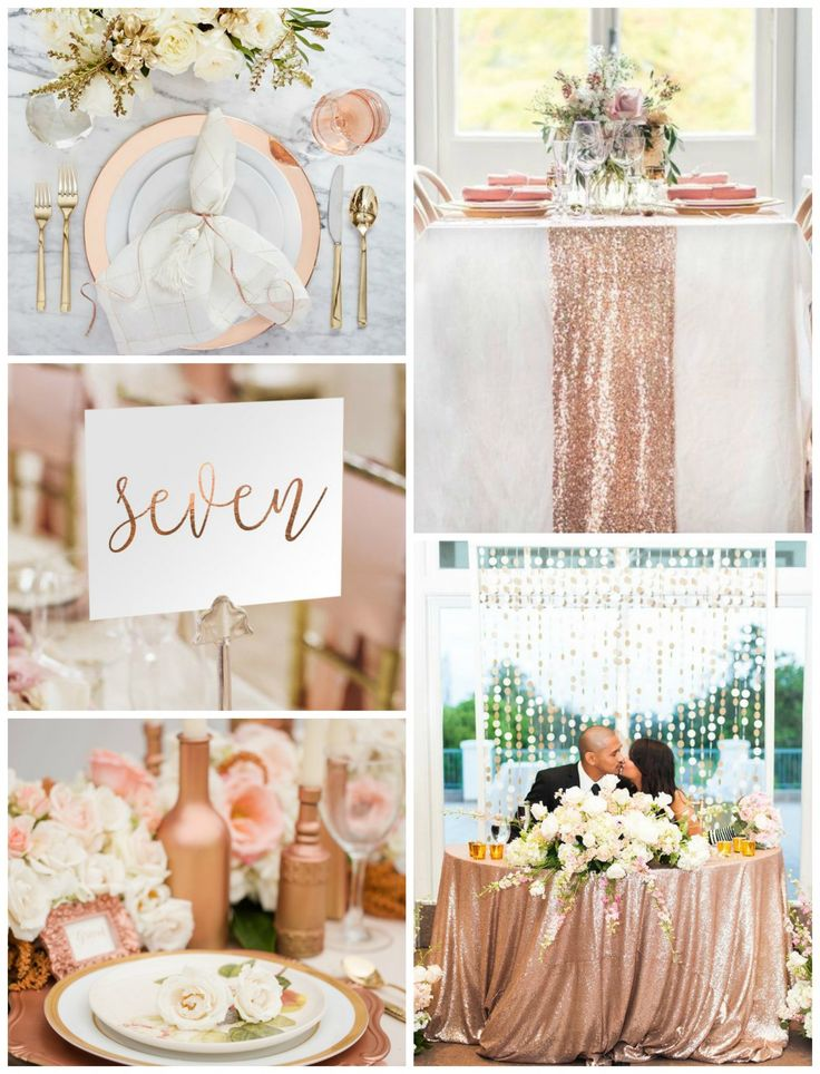 Pretty Ideas for a Rose Gold Wedding -Beau-coup Blog