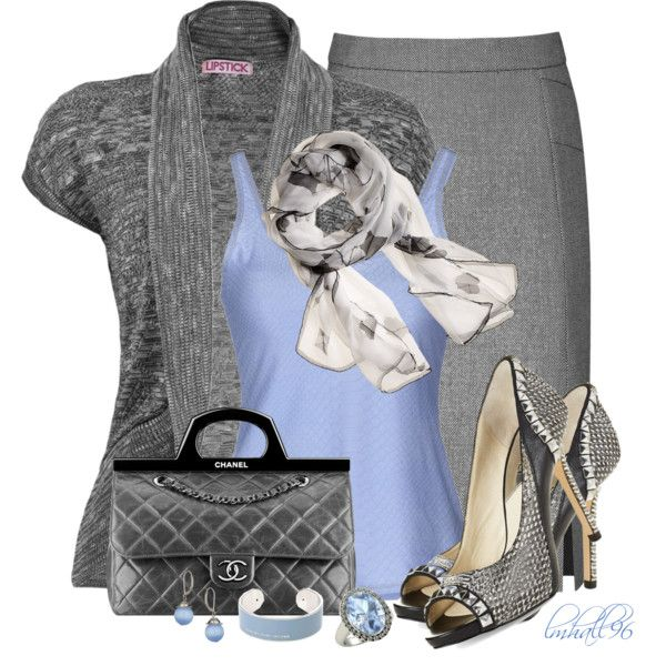 """""""Blue and Gray for Fall"""" by lmhall96 on Polyvore"""