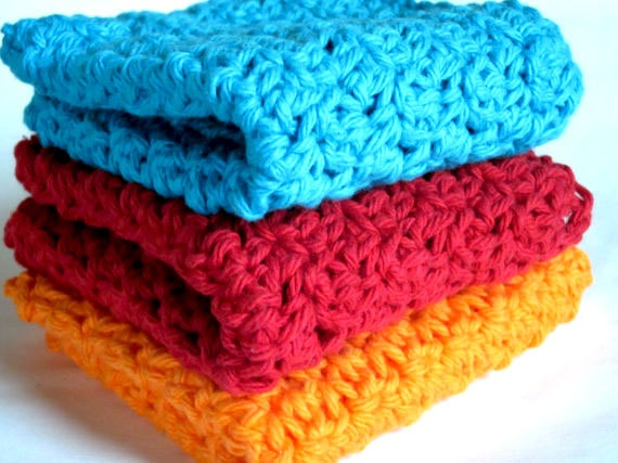 Fruit Punch  Washcloth or Dishcloth Set of 3 by jilliantdesigns, $12.00