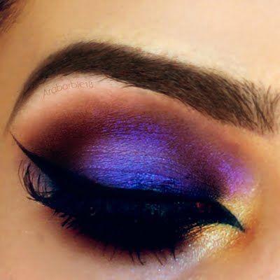 Sexy Purple Arabic Makeup by Ftm H