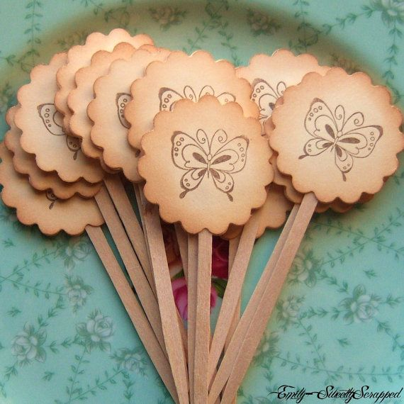 Vintage Inspired Butterfly Party Picks :)
