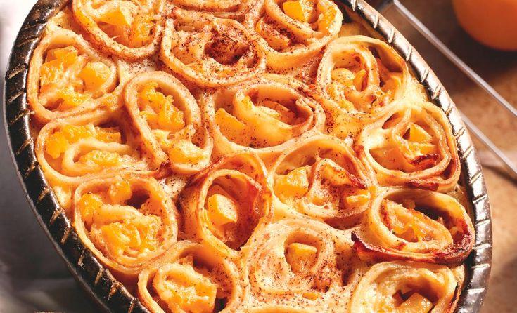 Überbackene Crêpes-Schnecken mit Aprikosen | Mondamin
