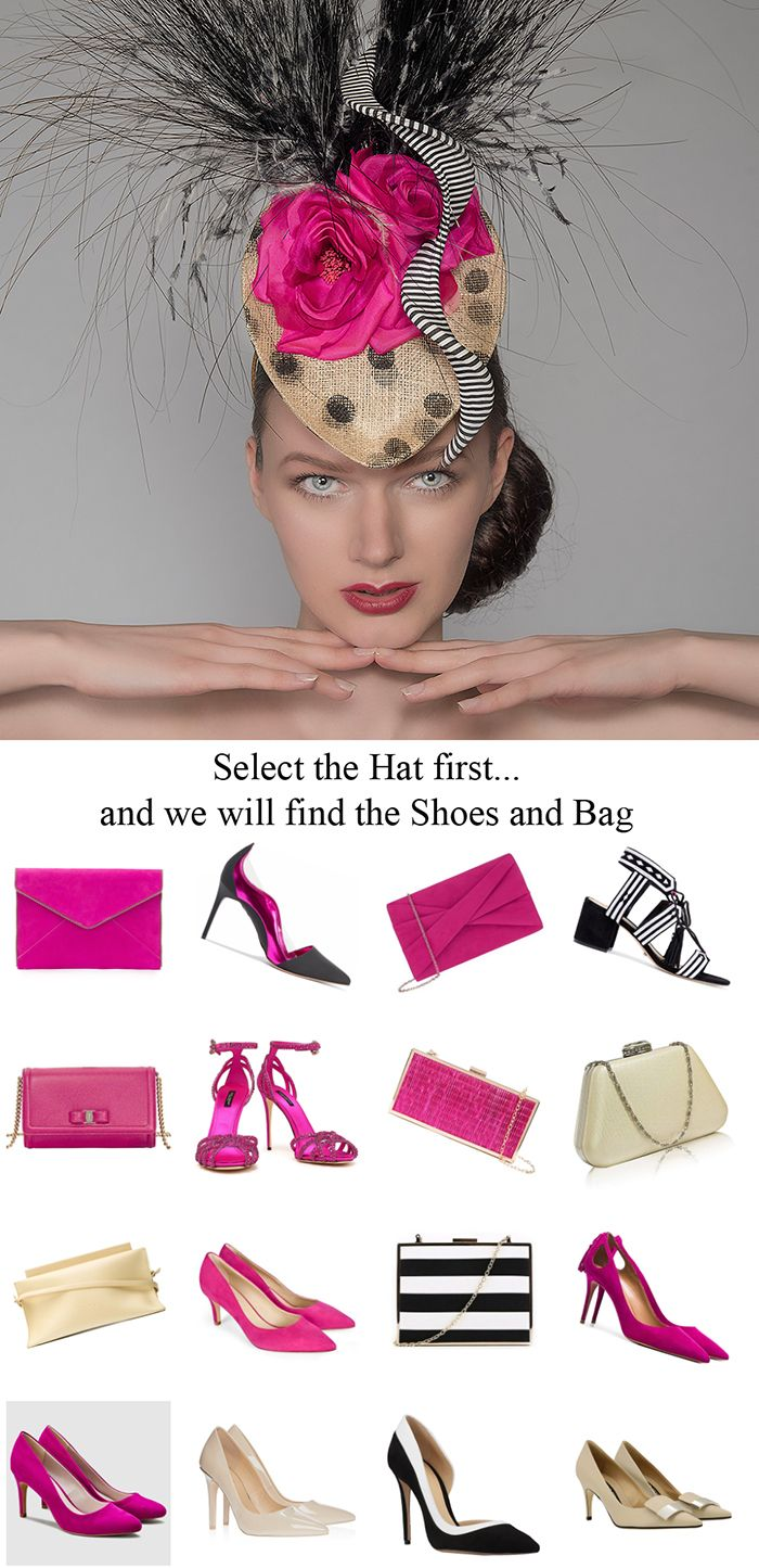 You Ve Found The Perfect Hat But Need A Bag And Shoes To Match For You Royal Ascot Outfits Or Mother Mother Of The Bride Hats Race Day Outfits Ascot Outfits