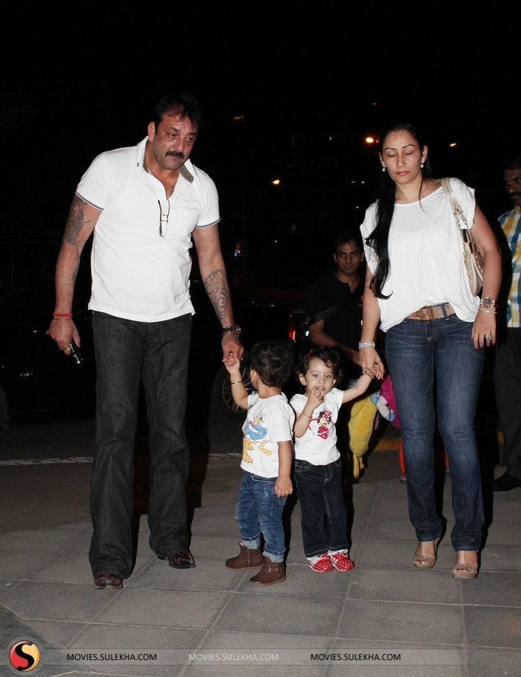 Sanjay Dutt Spotted With His Kids Stills & Pics