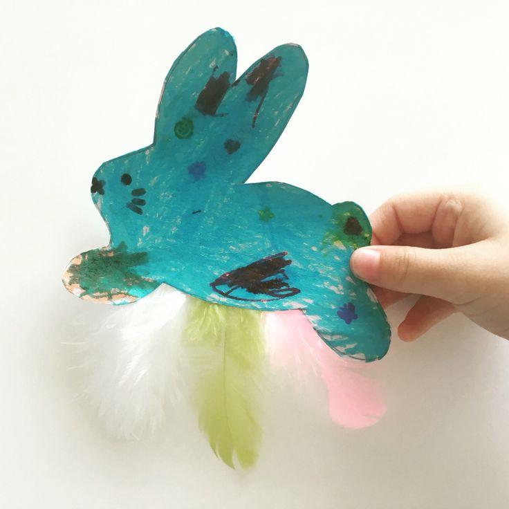 Easter DIY with Kids: easterbunny fridge magnet