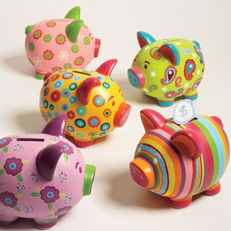 Sweet Piggy Banks by Two's Company. My favourite piggy bank: http://www.helpmetosave.com/2012/02/piggy-bank/