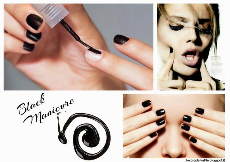 Black Manicure: http://lacasadellostile.blogspot.it/2014/02/smalto-nero-chic.html - piccole regole per rendere la #nailart nera chic!