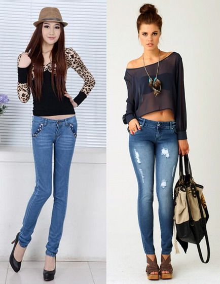 DRESSING MISTAKES:  Don't wear skinny streech jeans if you have too slim legs, or O, X shape legs. The jeans clings to your legs, and shows the imperfection. Wear it if you have pretty legs.