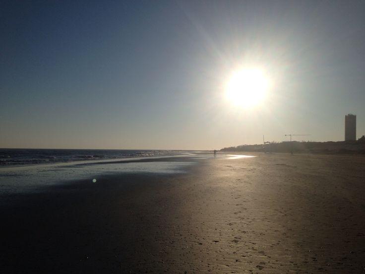 Beach on winter