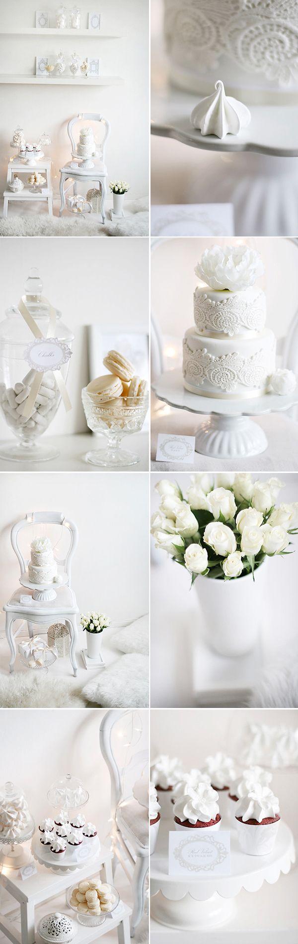 White winter wedding.