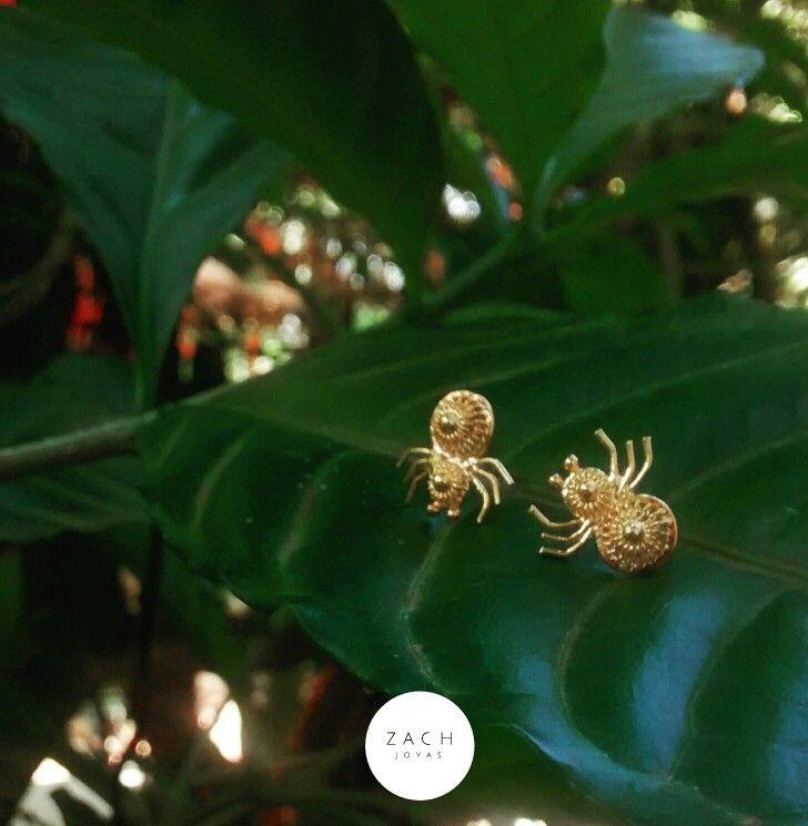 #nature   #spiders #earrings #filigree #plataley960#bañooro24k #zachjoyas @tiendavesttigio @zach_joyas