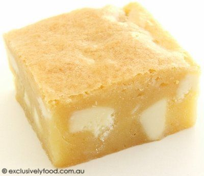 Exclusively Food: White Chocolate and Macadamia Blondie Recipe