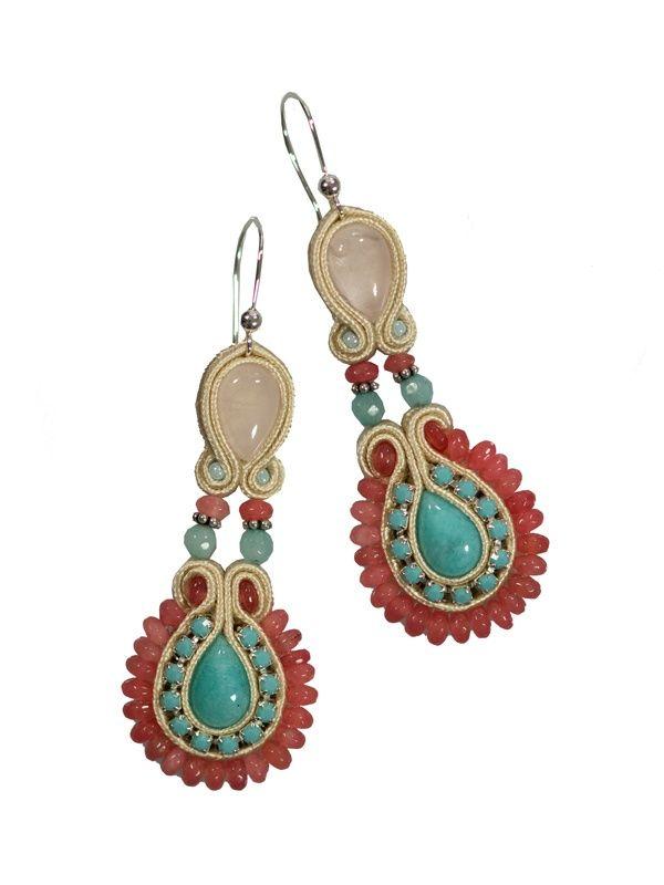 Bari - soutache earrings