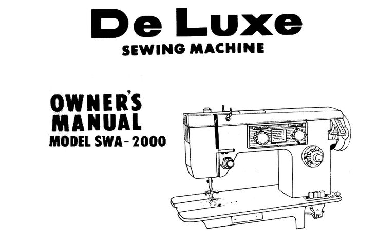 Dressmaker SWA 2000 Sewing Machine Instruction Manuals and
