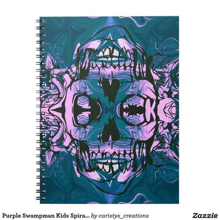 Purple Swampman Kids Spiral Notebook