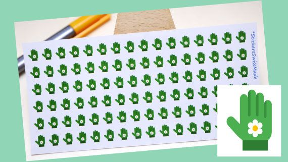 StickersSwissMade@Etsy - small stickers for every planner or bullet journal which is out there!  PLANNER STICKER || garden gloves || garden || small colored icons | for your planner or bullet journal #BulletJournal #gardening #ErinCondrenSticker #StickerSheets #FilofaxStickers #JournalStickers #LifeplannerSticker #PlannerStickers #BujoStickers #garden https://www.etsy.com/shop/StickersSwissMade?utm_source=outfy&utm_medium=api&utm_campaign=api