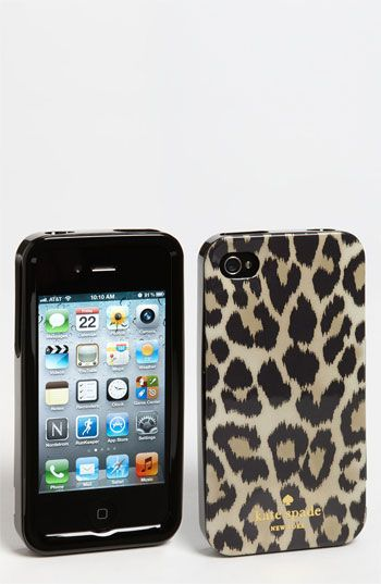 leopard print case / kate spade