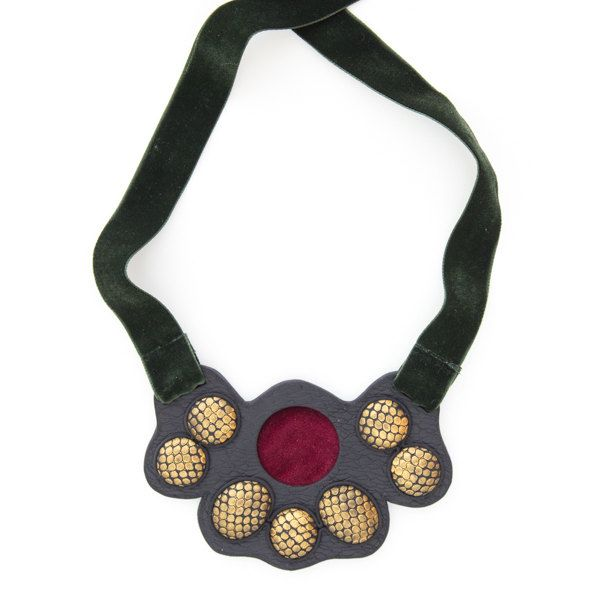 Woman fashion statement modern glamorous fully handmade necklace by DesignsbyLimeLight on Etsy