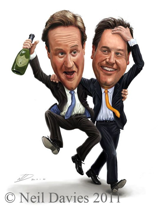 David Cameron and Nick Clegg - digital painting