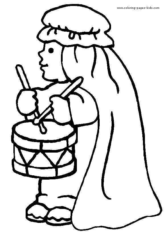 The Little Drummer Boy Coloring Pages